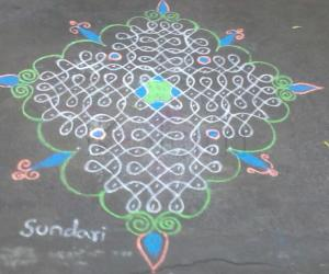 simple chikku kolam