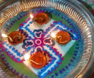 Aarti plate 3 for navarathri contest. 2015