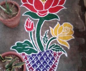 Rangoli: my flower rangoli