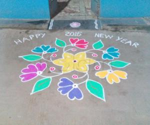 Rangoli: new year kolam 2015