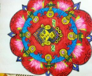 Rangoli: Lakshmi pooja rangoli