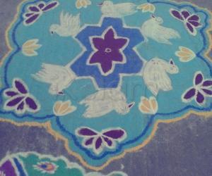 Rangoli: duck rangoli