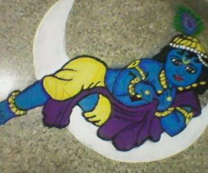 Rangoli: Little Krishna !!