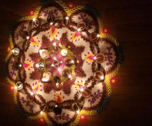 Rangoli for Lakshmi Pooja