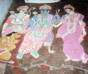 Rama, Seetha, Lakshmana & Hanuman