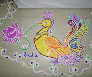 Rangoli: Yellow Swan