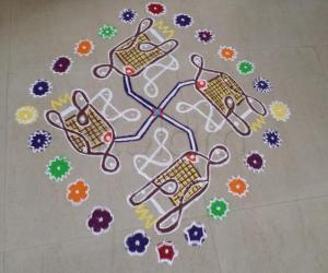 Rangoli: VEGETABLE DESIGNS FROM VEGETABLE CUTTER OF CHIKKU