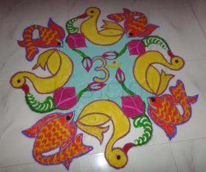 Rangoli: DASHAHARA DAY 3- CELEBS