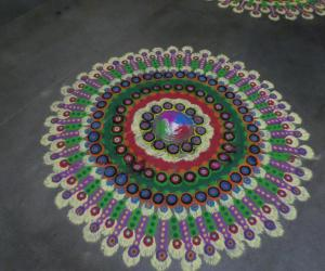 Colorfull Rangoli.