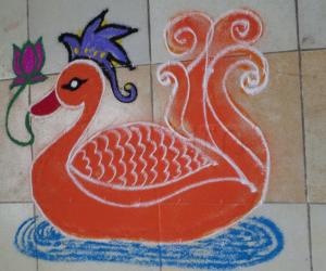 Rangoli: Salute to The Tamizha Students