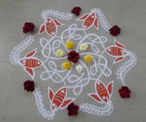 Rangoli: Chikku Net & the Fish