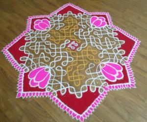 SriVaraLakshmi Vratham Rangoli