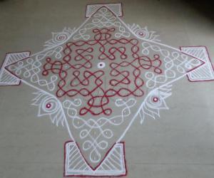 Rangoli: ThiruAAdhirai Spl. Day-18 Margazhi Kolam
