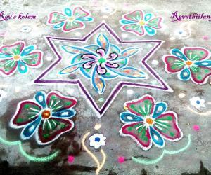 Rangoli: Rev's easy star kolam
