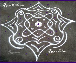 Rangoli: Rev's daily kolam 1