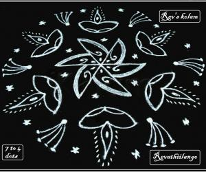 Rangoli: Rev's new friday kolam.