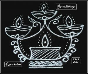 Rangoli: Rev's friday kolam.