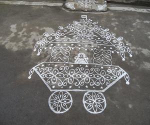 Rangoli: Ther kolam for Shiva Rathiri
