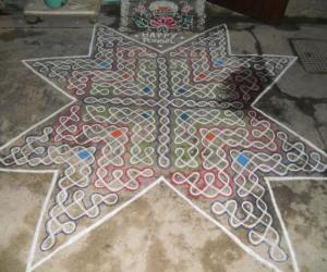 Pongal special star sikku kolam