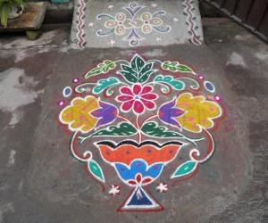 Rangoli: Happy valentines day