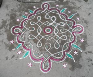 Chikku kolam. Simple.