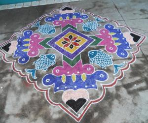 Kolam for mothers day