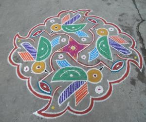 Honey bees in colour, Different kolam.
