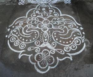 Rangoli: Rev's bird kolam.