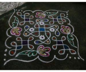 Rangoli: Rev's chikku kolam 44.