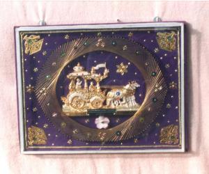 Geethaupathesam - Craft made with pins & golden thread