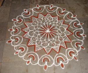 Chakkar kolam for holi
