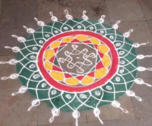 Rangoli: Ganesh Chathurthi kolam
