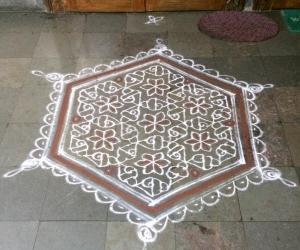 Vaikunta Ekadasi Margazhi kolam
