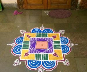 Kolam on varalakshmi pooja