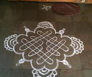 Kolam on Rama navami