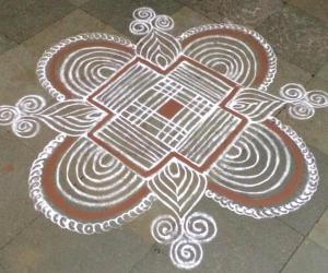 Special kolam on full moon day