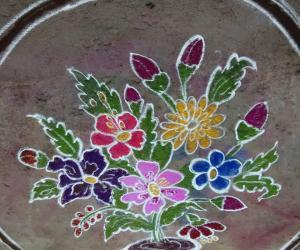 Rangoli: flower pot
