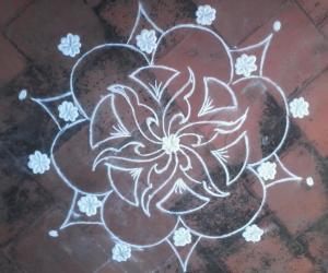 Rangoli: my first rangoli in ikolam