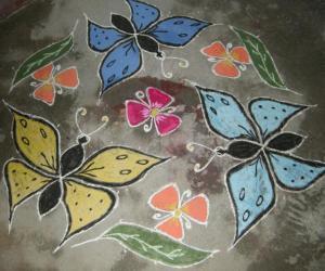 butterflies rangoli
