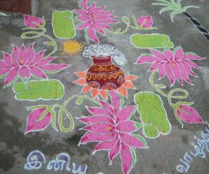 Lotus rangoli