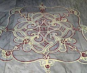 Rangoli: Iyengar padi  kolam with rice batter