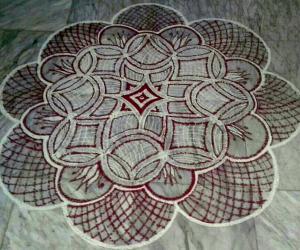 Rangoli: Padi kolam  made for Thai Velli