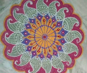 Freehand  Mandala  with colours