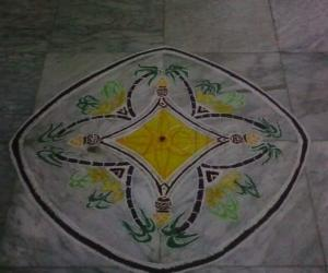 Padi kolam for pongal