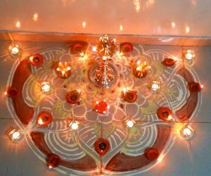 Happy Karthigai to all - Indoor Diya Deco for Karthigai
