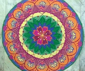 Freehand Mandala with colours.
