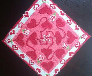 Rangoli: Valentine's Day Special Kolam with 11-1 straight dots