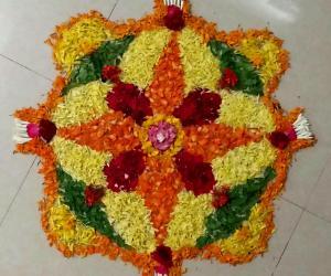 Rangoli: PooKolam #009 -  Onam Special Kolam
