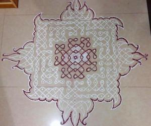 Margazhi  Kolam 02 - Dec. 2016