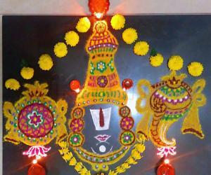 Rangoli: Vaikunda Ekadasi Rangoli/Margazhi Kolam 09 Dec.2016